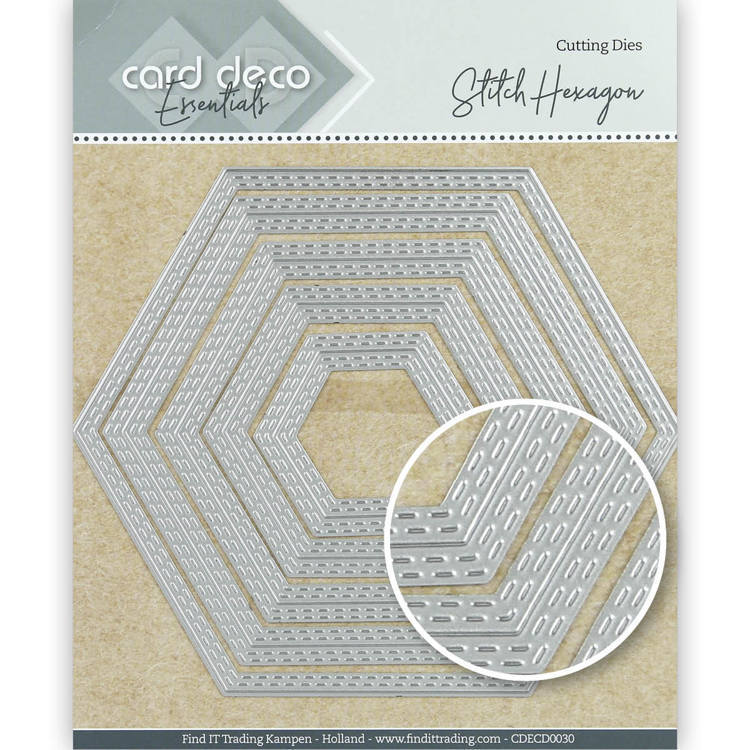 Card Deco Essentials Cutting Dies Stitch Hexagon