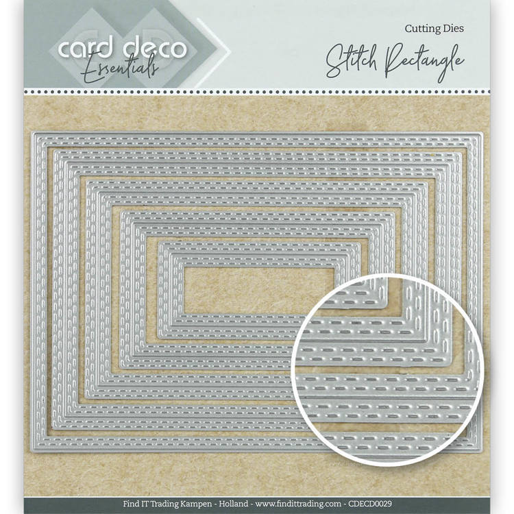 Card Deco Essentials Cutting Dies Stitch Rectangle