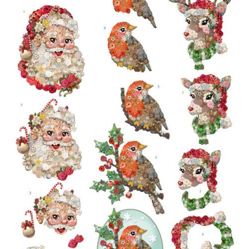 3D knipvel - Yvonne Creations -Kitschy Lala - Santa