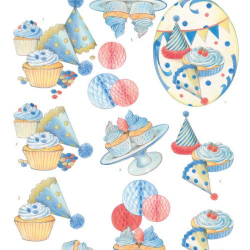 3D knipvel - Jeanine's Art - Cake Party