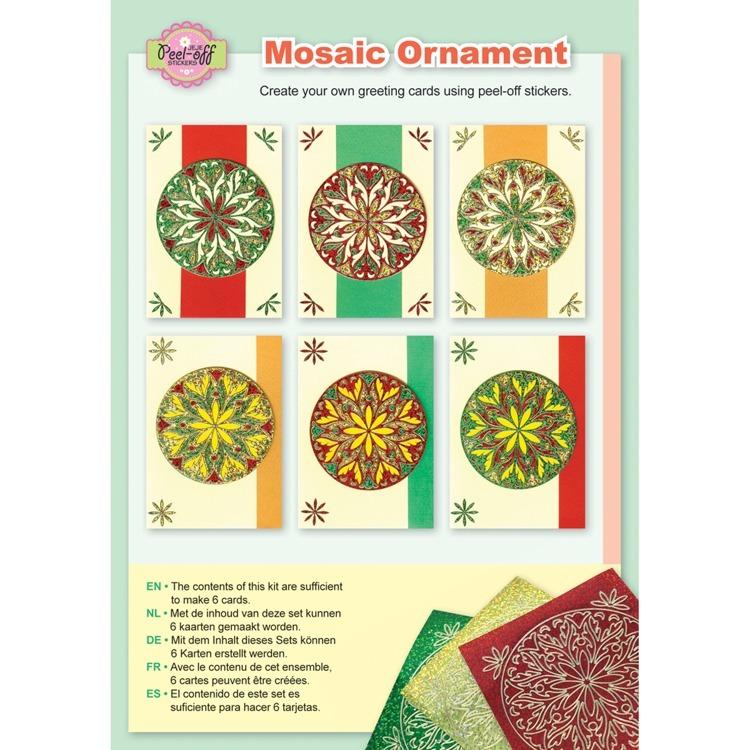 Mosaic ornament diamond bright colours