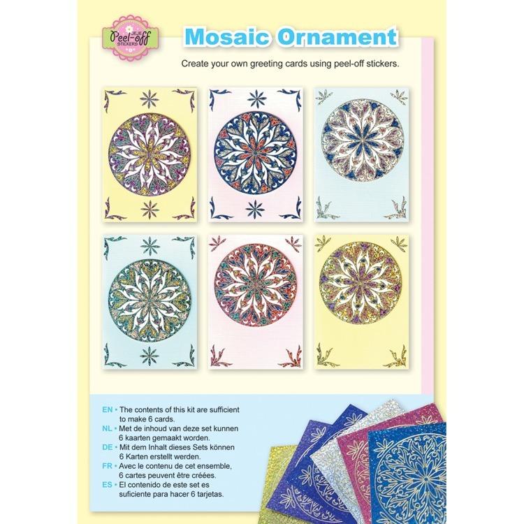 Mosaic ornament diamond pastel colours