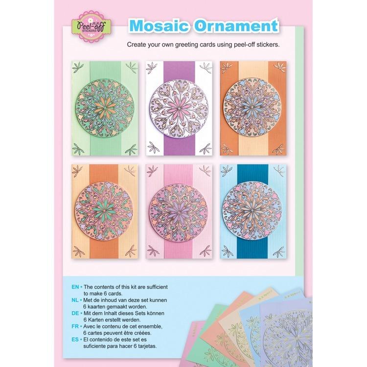 Mosaic ornament pastel colours