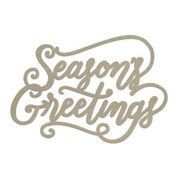 Chipboard - Seasons Greetings Sentiment (1pc) - 79 x 49mm | 3.1 x 1.9in
