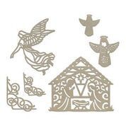 Chipboard - Away in a Manger (6pc) - 81 x 118mm | 3.1 x 4.6in