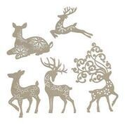 Chipboard - Dasher, Dancer, Comet, Cupid and Vixen Set (5pc) - 107 x 158mm | 4.2 x 6.2in