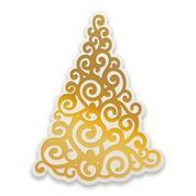 Curling Christmas Tree Cut, Foil and Emboss Die (1pc)