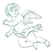 Cherub Mini Stamp (1pc)