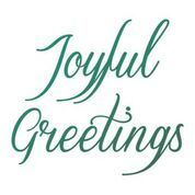 Joyful Greetings Sentiment Mini Stamp (1pc)