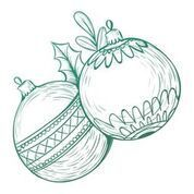 Christmas Baubles Mini Stamp (1pc)