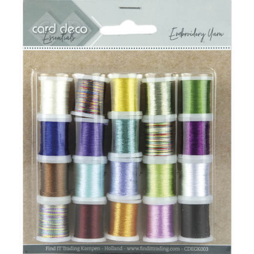 Card Deco Essentials - Embroidery yarn mix 03