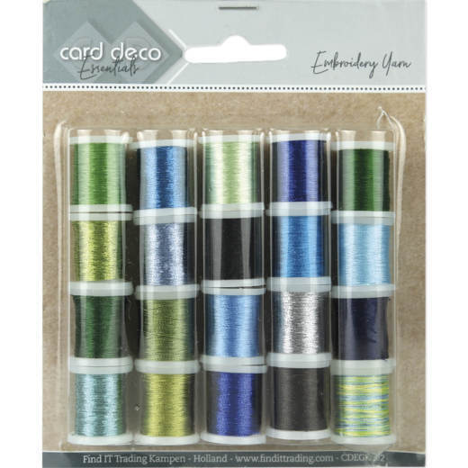 Card Deco Essentials - Embroidery yarn mix 02