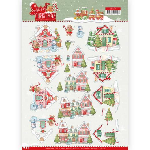3D Knipvel - Yvonne Creations - Sweet Christmas - Sweet Houses
