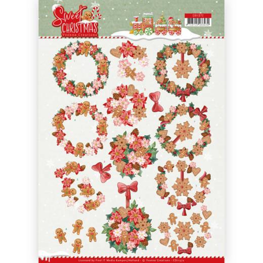 3D Knipvel - Yvonne Creations - Sweet Christmas - Sweet Wreaths