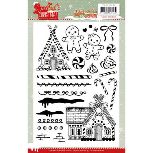 Clear Stamps - Yvonne Creations - Sweet Christmas