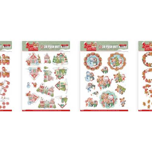 Yvonne Creations - Sweet Christmas uitdruk set 10394/395/396/397