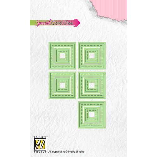 Nellies Choice Patchwork dies vierkanten PSCD004 10x10mm (09-19)