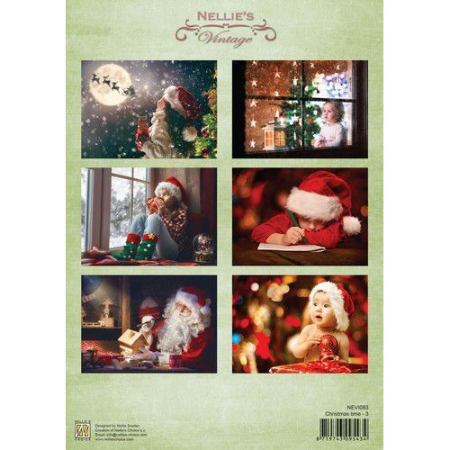 Nellie's Choice Decoupage knipvel Christmas time-3 A4 - NEVI083  (09-19)
