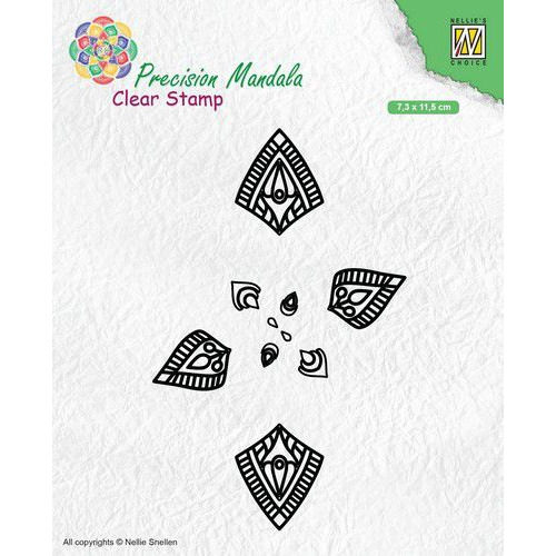 Nellies Choice Precision Mandala clearstamp Mandala-1 MANCS001 73x115mm (09-19)