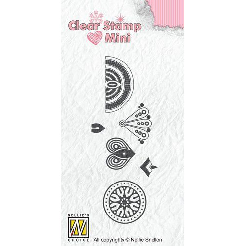 Nellies Choice Mandala Clear Stamp mini bloem-3 MAFS017 (09-19)