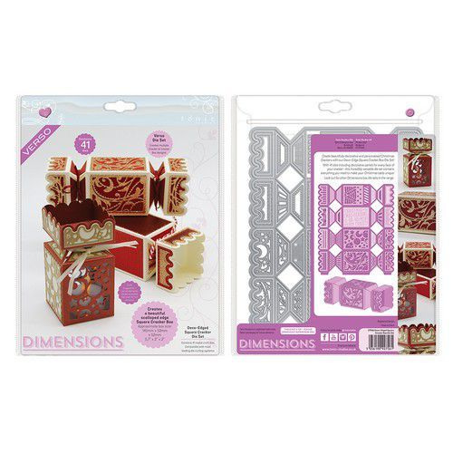 Tonic Studios Die - Dimensions Edged Square Cracker Box set 2756E (10-19)