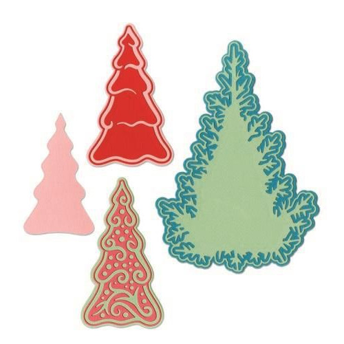 Sizzix Thinlits Die  set -  7PK Fairy  set -  Background Trees 662847 Jorli Perine (10-19)