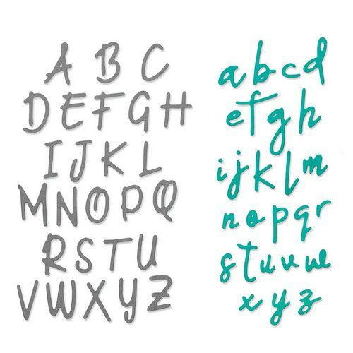 Sizzix Thinlits Die  set -  2PK Alphabet  set - 663421 Emily Tootle (10-19)