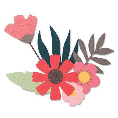Sizzix Thinlits Die  set -  9PK Free Style Florals 663437 Sophie Guilar (10-19)