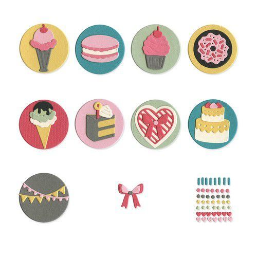 Sizzix Thinlits Die  set -  13PK Mini Sweet Treats 663620 Courtney Chilson (10-19)