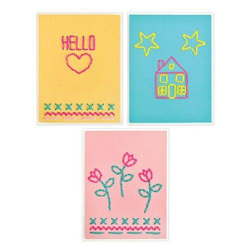 Sizzix Thinlits Die  set -  6PK House Heart Flower&Star Stitchlits 663622 Jordan Caderao (10-19)
