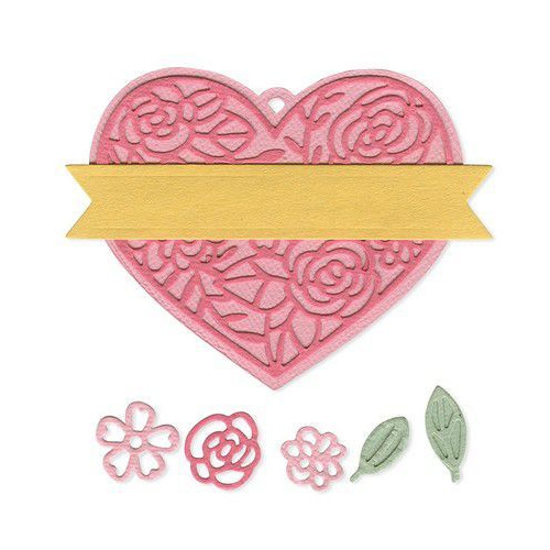 Sizzix Thinlits Die  set -  10PK Heart Tag 663623 Katelyn Lizardi (10-19)