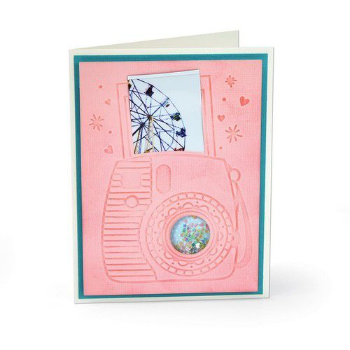 Sizzix 3-D Impresslits Embossing Folder - Instant Camera 663631 Katelyn Lizardi (10-19)