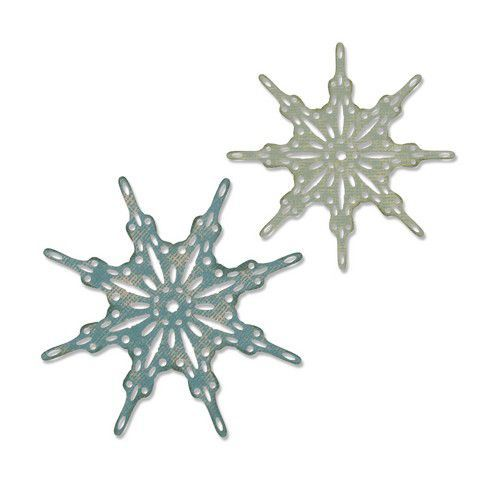 Sizzix Thinlits Die  set -  2PK Fanciful Snowflakes 664227 Tim Holtz (10-19)