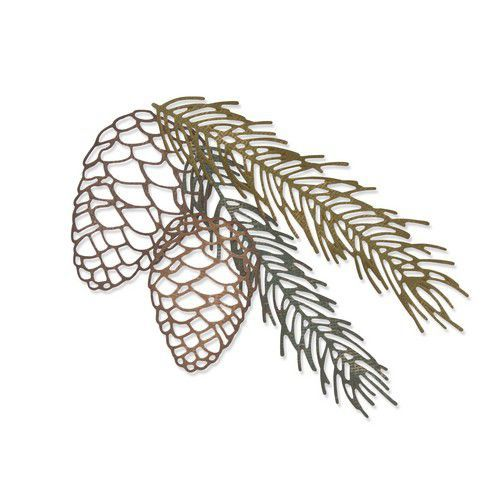Sizzix Thinlits Die  set -  4PK Pine Branch 664228 Tim Holtz (10-19)