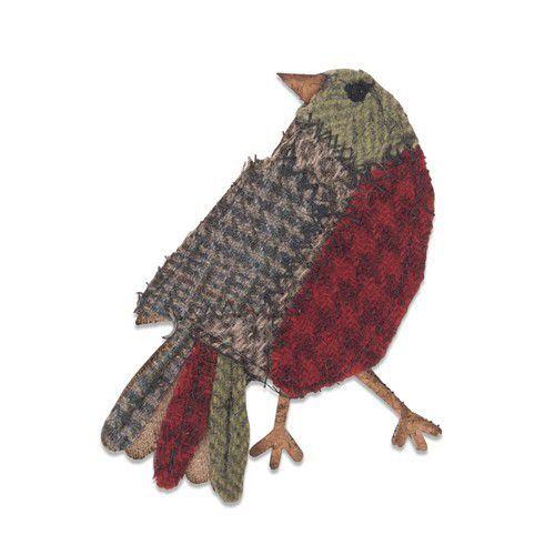Sizzix Bigz Die - Patchwork Bird 664231 Tim Holtz (10-19)