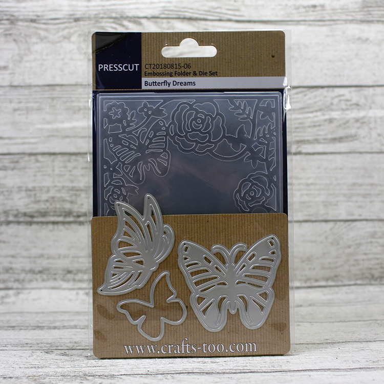Presscut Embossing Folder & Die Set - Butterfly Dreams