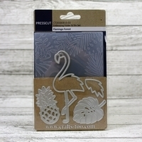 Presscut Embossing Folder & Die Set - Flamingo Forest