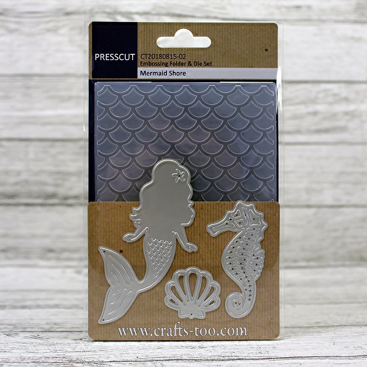 Presscut Embossing Folder & Die Set - Mermaid Shore