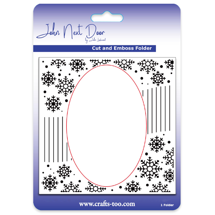 John Next Door Cut and Emboss Folders - Snowflake Swirl