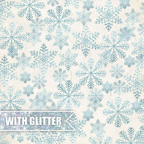 Craft&You North Wind Premium Sheet of paper - glitter 12X12 CP-NW09 (09-19)