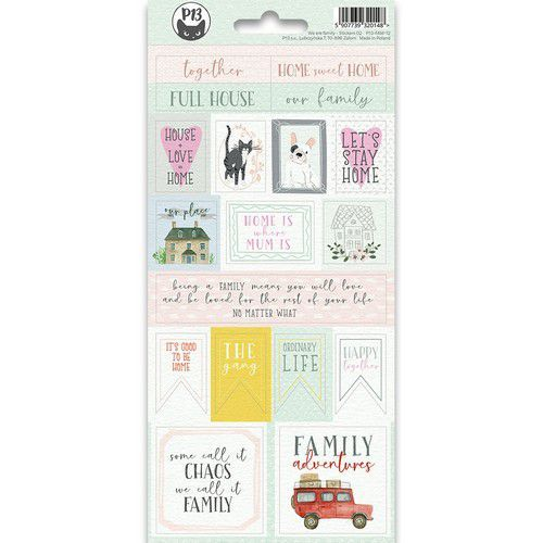 Piatek13 - Sticker sheet We are family 02 P13-FAM-12 10,5x23cm (09-19)