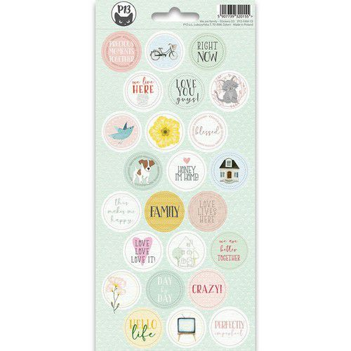 Piatek13 - Sticker sheet We are family 03 P13-FAM-13 10,5x23cm (09-19)