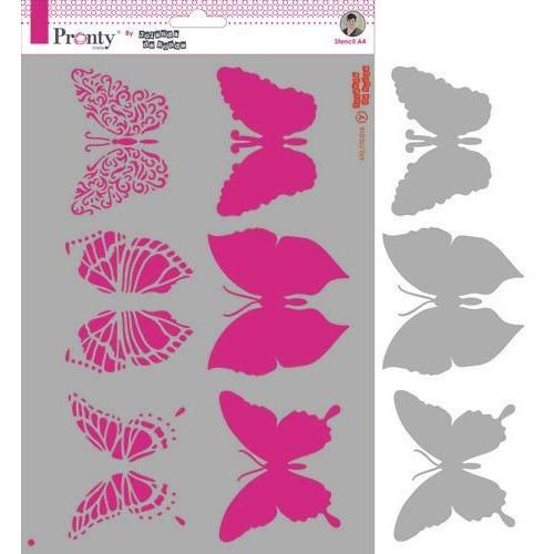 Pronty Mask Butterflies  A4 470.770.016 by Jolanda (09-19)
