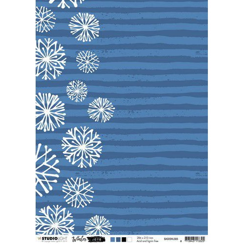 Studio Light Basis A4 Achtergrondpapier Winter Joys nr 305 BASISWJ305 (10-19)