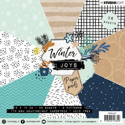 Studio Light Paper pad 36 vel Winter Joys nr 127 PPWJ127 15x15cm (10-19)