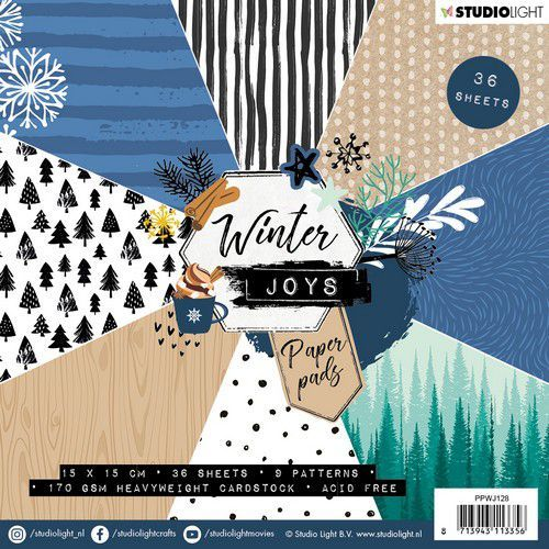 Studio Light Paper pad 36 vel Winter Joys nr 128 PPWJ128 15x15cm (10-19)