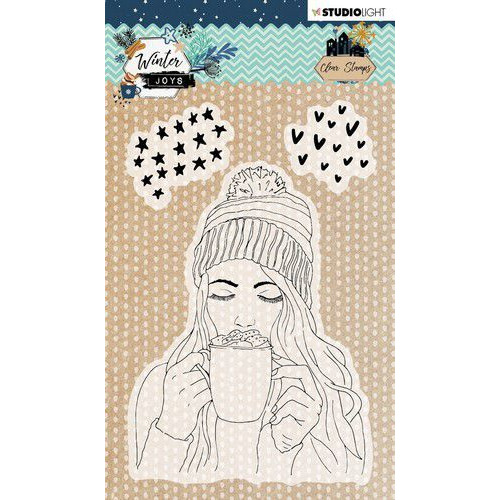 Studio Light Stamp A6 Winter Joys nr 420 STAMPWJ420 (10-19)