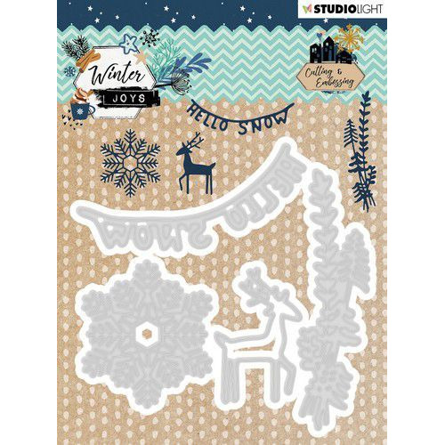 Studio Light Embossing Die Winter Joys nr 229 STENCILWJ229 103x101mm (10-19)