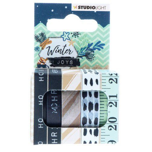 Studio Light Washi tape 5 rls 5 mtr Winter Joys nr 06 WASHIWJ06 (10-19)