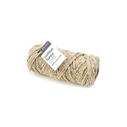 Cotton Lurex Twist, Taupe